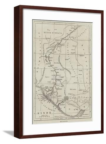 Map of Scinde--Framed Art Print