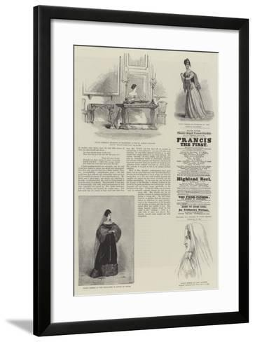Mrs Fanny Kemble--Framed Art Print