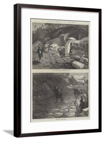 Sketches in Rome--Framed Art Print
