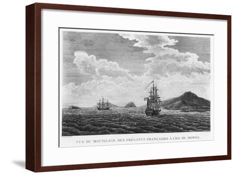 The Frigates of La Perouse at the Island of Maui--Framed Art Print