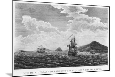 The Frigates of La Perouse at the Island of Maui--Mounted Giclee Print