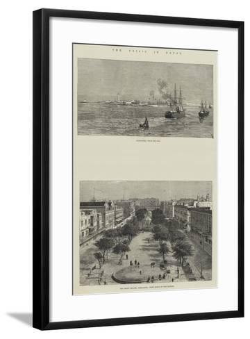 The Crisis in Egypt--Framed Art Print
