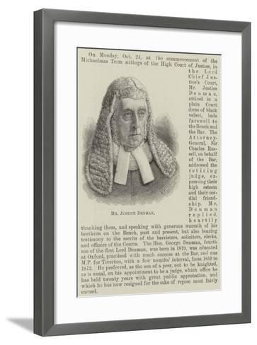 Mr Justice Denman--Framed Art Print
