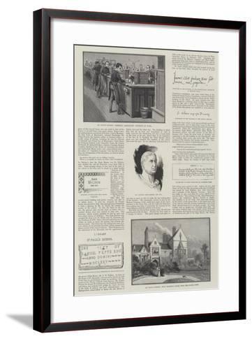 St Paul's School--Framed Art Print