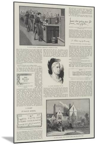 St Paul's School--Mounted Giclee Print