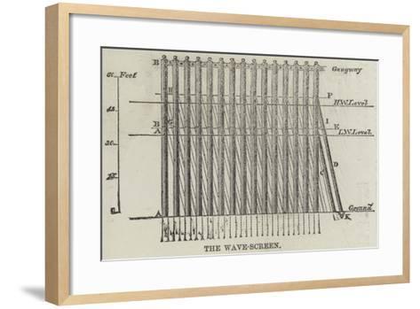 The Wave-Screen--Framed Art Print