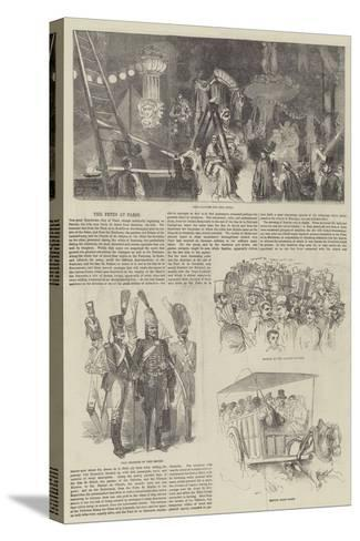 The Fetes at Paris--Stretched Canvas Print