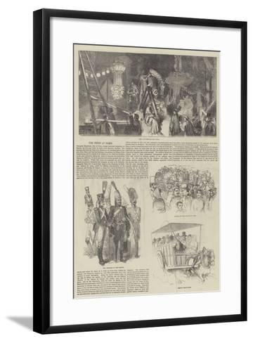 The Fetes at Paris--Framed Art Print