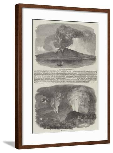 Etna in Eruption--Framed Art Print