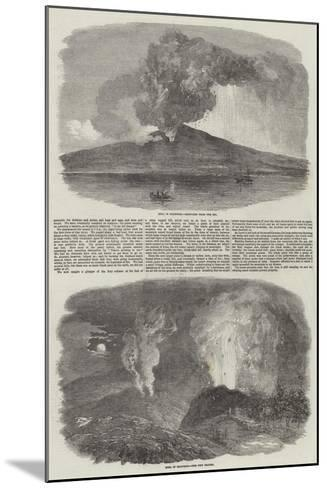 Etna in Eruption--Mounted Giclee Print