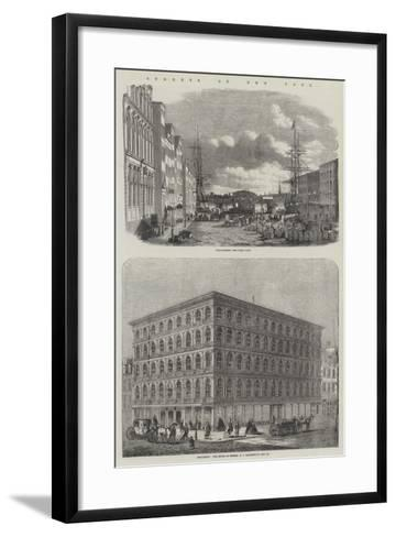 Streets of New York--Framed Art Print