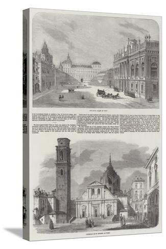 Sketches of Turin--Stretched Canvas Print