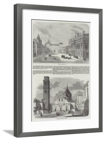 Sketches of Turin--Framed Art Print
