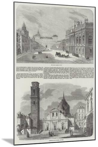 Sketches of Turin--Mounted Giclee Print