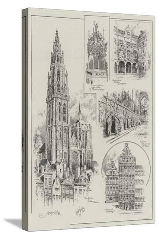 Sketches of Antwerp--Stretched Canvas Print