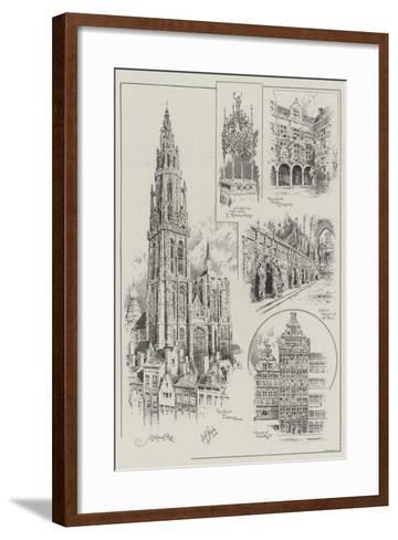 Sketches of Antwerp--Framed Art Print