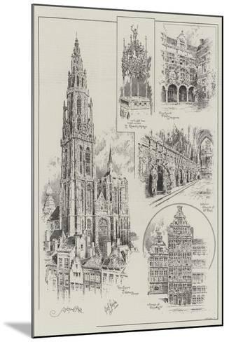 Sketches of Antwerp--Mounted Giclee Print