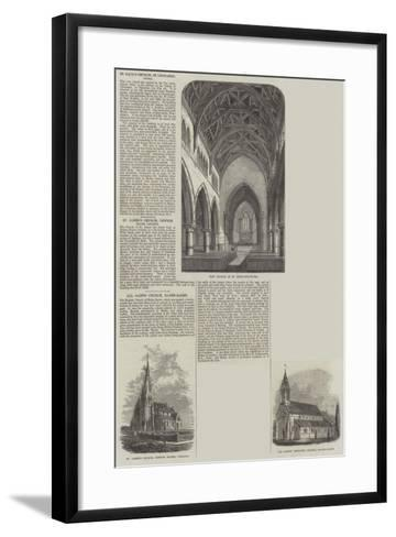 Various Churches--Framed Art Print