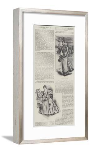 Ladies' Page, Dress--Framed Art Print