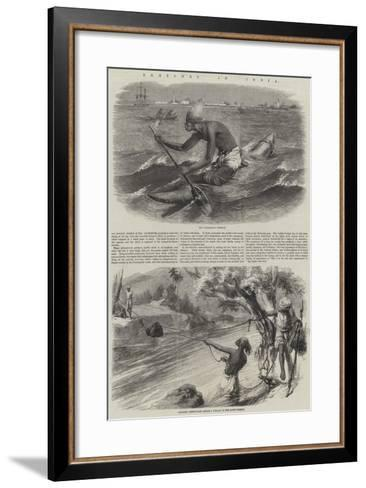 Sketches in India--Framed Art Print