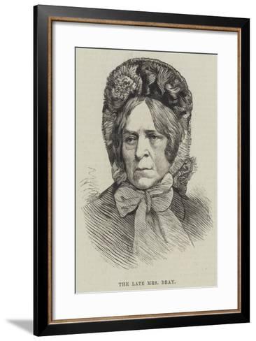 The Late Mrs Bray--Framed Art Print