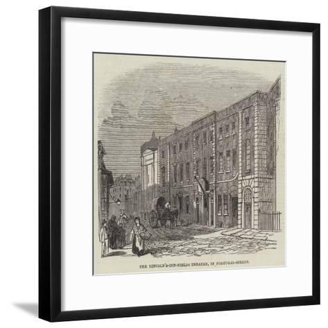 The Lincoln's-Inn-Fields Theatre, in Portugal-Street--Framed Art Print