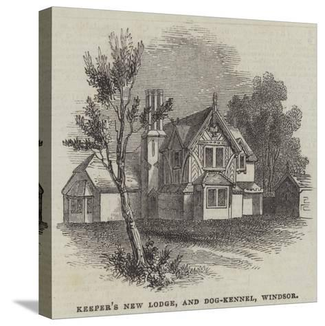 Keeper's New Lodge, and Dog-Kennel, Windsor--Stretched Canvas Print