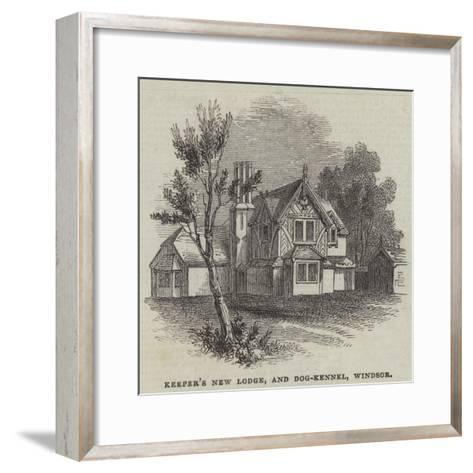 Keeper's New Lodge, and Dog-Kennel, Windsor--Framed Art Print