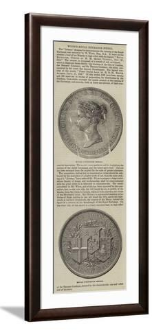 Wyon's Royal Exchange Medal--Framed Art Print