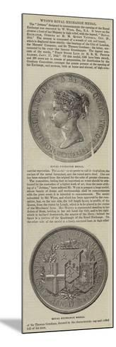 Wyon's Royal Exchange Medal--Mounted Giclee Print
