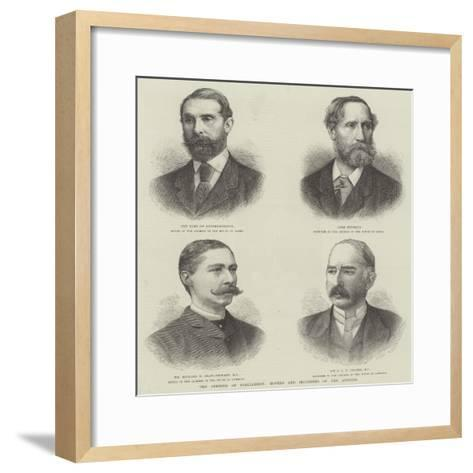 The Opening of Parliament, Movers and Seconders of the Address--Framed Art Print
