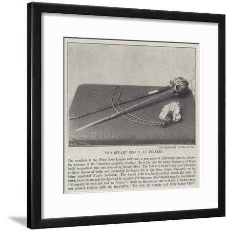 Two Stuart Relics at Peebles--Framed Art Print