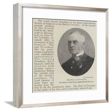 The Earl of Coventry, President of the Royal Agricultural Society--Framed Art Print