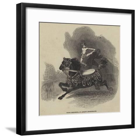 Young Hernandez, at Astley's Amphitheatre--Framed Art Print