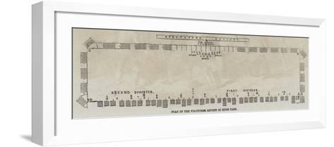 Plan of the Volunteer Review in Hyde Park--Framed Art Print
