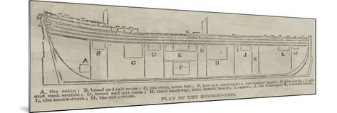 Plan of the Herring-Buss--Mounted Giclee Print