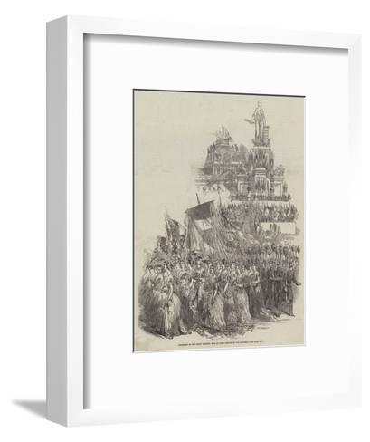 Procession of the Great National Fete at Paris, Statue of the Republic--Framed Art Print