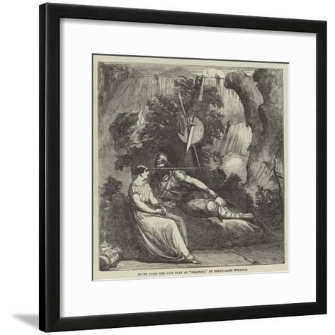 Scene from the New Play of Ingomar, at Drury-Lane Theatre--Framed Art Print