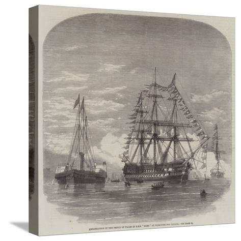 Embarkation of the Prince of Wales in HMS Hero at Plymouth for Canada--Stretched Canvas Print