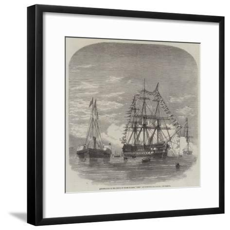 Embarkation of the Prince of Wales in HMS Hero at Plymouth for Canada--Framed Art Print