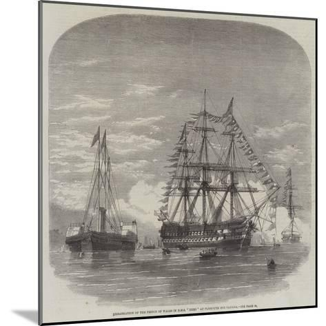 Embarkation of the Prince of Wales in HMS Hero at Plymouth for Canada--Mounted Giclee Print