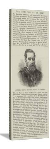 Alderman Henry Bennett, Mayor of Grimsby--Stretched Canvas Print