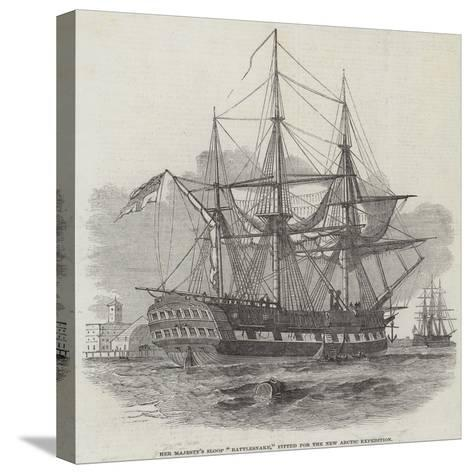 Her Majesty's Sloop Rattlesnake, Fitted for the New Arctic Expedition--Stretched Canvas Print