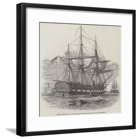 Her Majesty's Sloop Rattlesnake, Fitted for the New Arctic Expedition--Framed Art Print