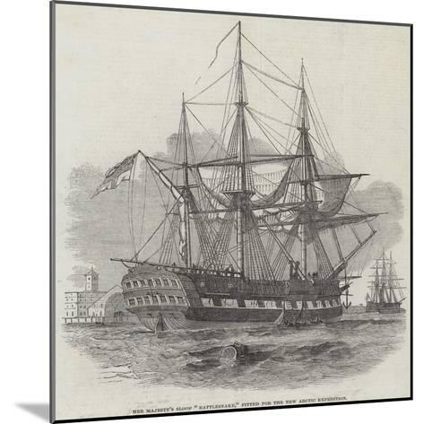 Her Majesty's Sloop Rattlesnake, Fitted for the New Arctic Expedition--Mounted Giclee Print
