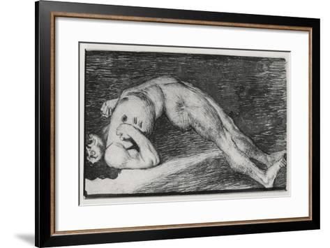 Drawing of an Epileptic Seizure--Framed Art Print
