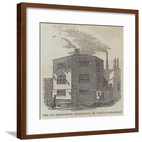 The Old Schoolhouse, Churchyard, St Giles's-In-The-Fields--Framed Art Print