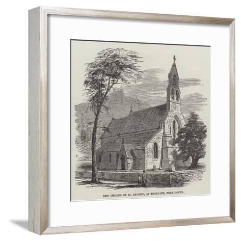 New Church of St Andrew, at Buckland, Near Dover--Framed Art Print