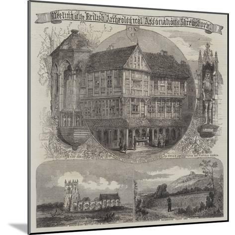 British Archaeological Association at Shrewsbury--Mounted Giclee Print