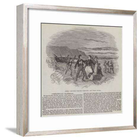 Affray Between Cornish Wreckers and Coast Guard--Framed Art Print